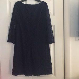Navy V-neck dress